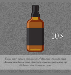 whiskey alcoholic beverage card template vector image vector image