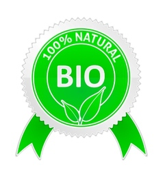 Badge of 100 percents Natural vector image