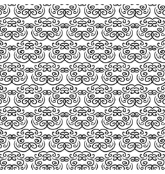 Elegant oriental black and white pattern vector image