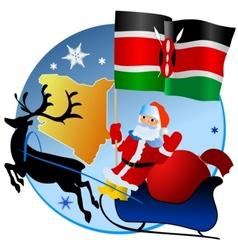 Merry Christmas Kenya vector image