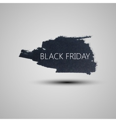 Splash grunge watercolor background Black friday vector image