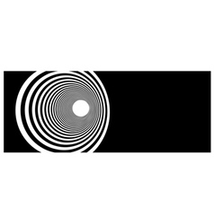 tunnel vortex in concentric black and white stripe vector image