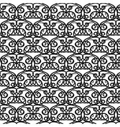 Elegant royal black and white hand-drawn pattern vector