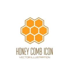 Honey comb icon vector image