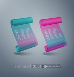 set abstract scroll elements for design vector image vector image