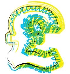 Sketch Pound Symbol vector image