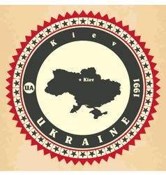 Vintage label-sticker cards of Ukraine vector image vector image