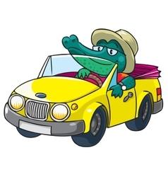 Crocodile-driver vector