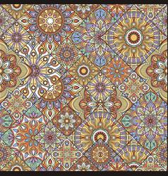 mandala seamless pattern indian decorative vector image