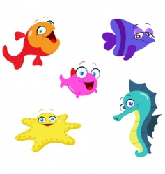 sea creatures vector image