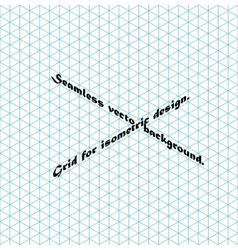 Seamless grid for isometry vector image