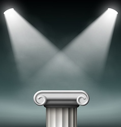 White ancient columns illuminated with floodlights vector image vector image