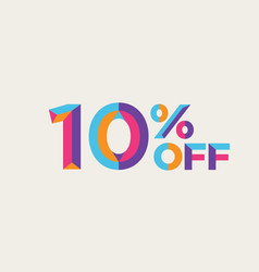 10 percent off sale background vector