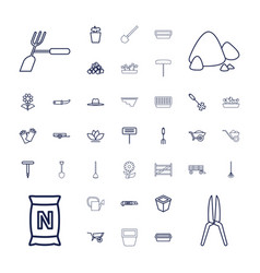 37 gardening icons vector