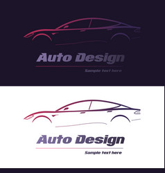 abstract car design concept automotive topics vector image
