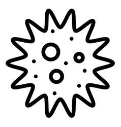 Amoeba or bacteria line style icon vector