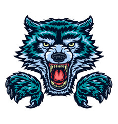 Angry wolf vector