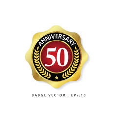 Anniversary 50 template design vector