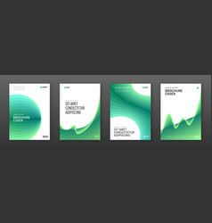 annual report cover design templates set vector image