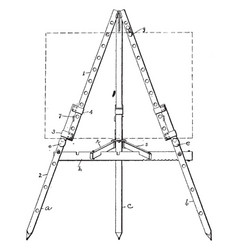 Art easel are also may be decorative for display vector