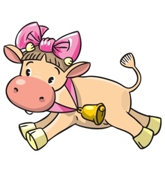 Baby cow vector