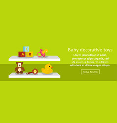 baby decorative toys banner horizontal concept vector image vector image