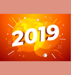 banner with 2019 numbers vector image