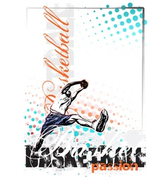 basketball poster background vector image