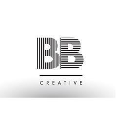 Bb b b black and white lines letter logo design vector