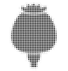 Black dotted opium poppy icon vector