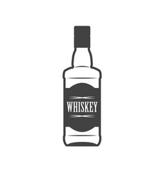 bottle whiskey flat line icon vector image