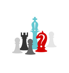 business conceptual with chess symbols horse vector image