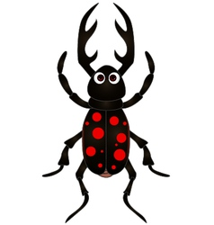 cartoon beetle on white background vector image