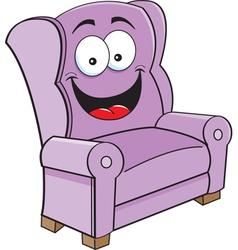 Cartoon Happy Chair vector