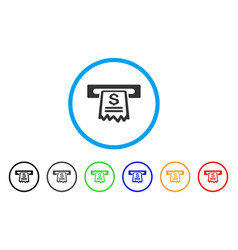 cashier receipt rounded icon vector image