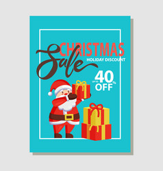 christmas sale holiday discount 40 off vector image