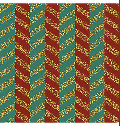 Christmas Seamless chevron pattern Red green and vector image