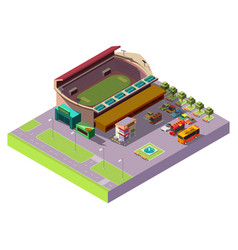 city public stadium 3d isometric icon vector image