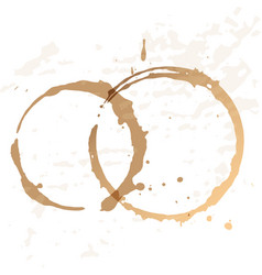 Close up of coffee cup stains vector