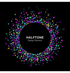 Colorful Bright Abstract Halftone Logo vector image