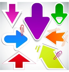 colorful paper arrows vector image