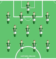 Computer game Northern Ireland Football club vector