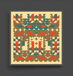 cover design template geometric design pattern vector image