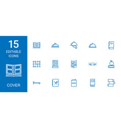 cover icons vector image