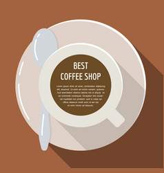 Cup of coffee flat espresso drink vector