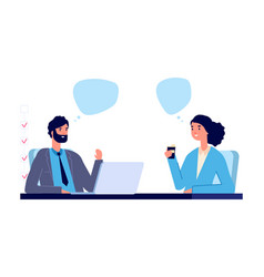 employment concept business interview vector image