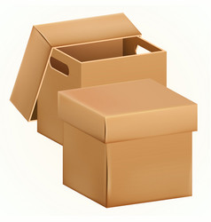 empty cardboard box packaging container vector image