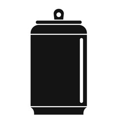 Empty tin can icon simple style vector