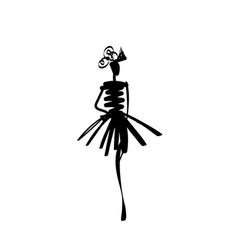 fashion models sketch hand drawn silhouette pop vector image