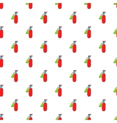 Fire extinguisher pattern cartoon style vector